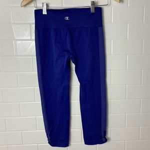 CHAMPION Blue Cropped Compression Leggings